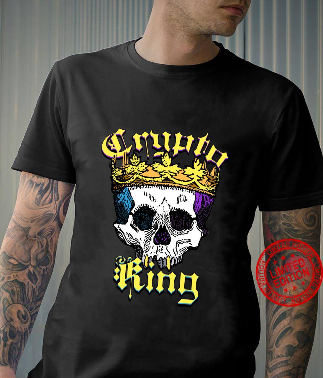 Crypto King Cryptocurrency Coins Skull Money Crown Shirt