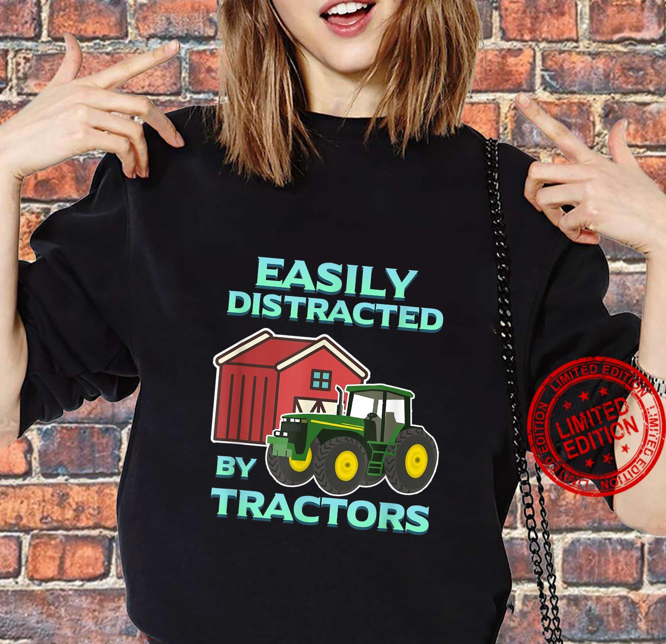 Easily Distracted By Tractors Farmer Ranch Farming Herd Farm Shirt sweater