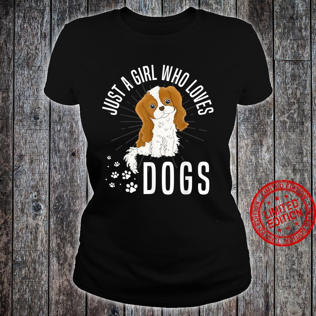 Just A Girl Who Loves Girl Dog Shirt ladies tee