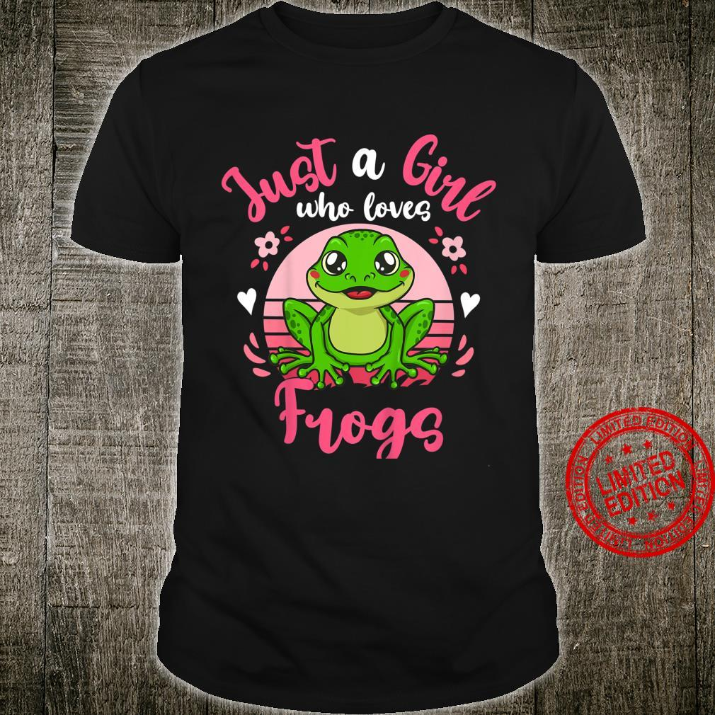 Kids Frog Just a Girl Who Loves Frogs Shirt